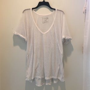 White Free People Top